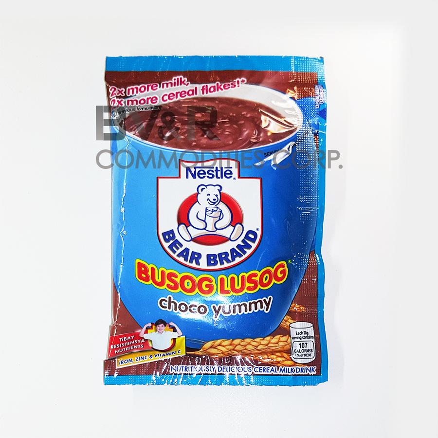 BEAR BRAND BUSOG LUSOG CHOCO YUMMY NUTRITIOUSLY DELICIOUS CEREAL MILK DRINK