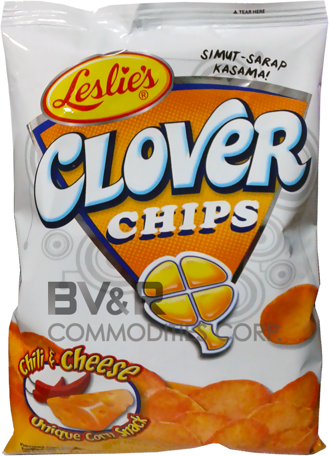 LESLIE'S CLOVER CHIPS CHILI & CHEESE UNIQUE CORN SNACK