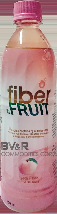 FIBER & FRUIT PEACH FLAVOR FRUIT JUICE DRINK
