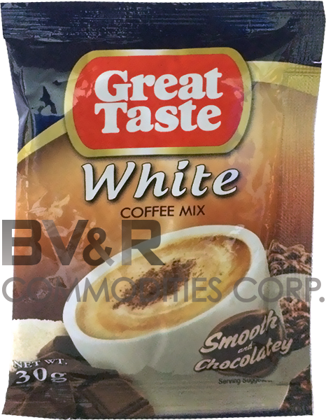 GREAT TASTE WHITE COFFEE MIX SMOOTH and CHOCOLATEY
