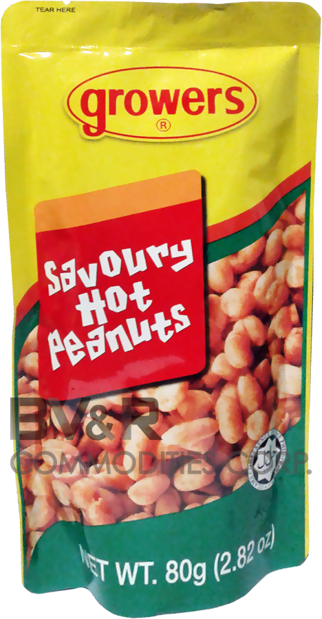 GROWERS SAVOURY HOT PEANUTS