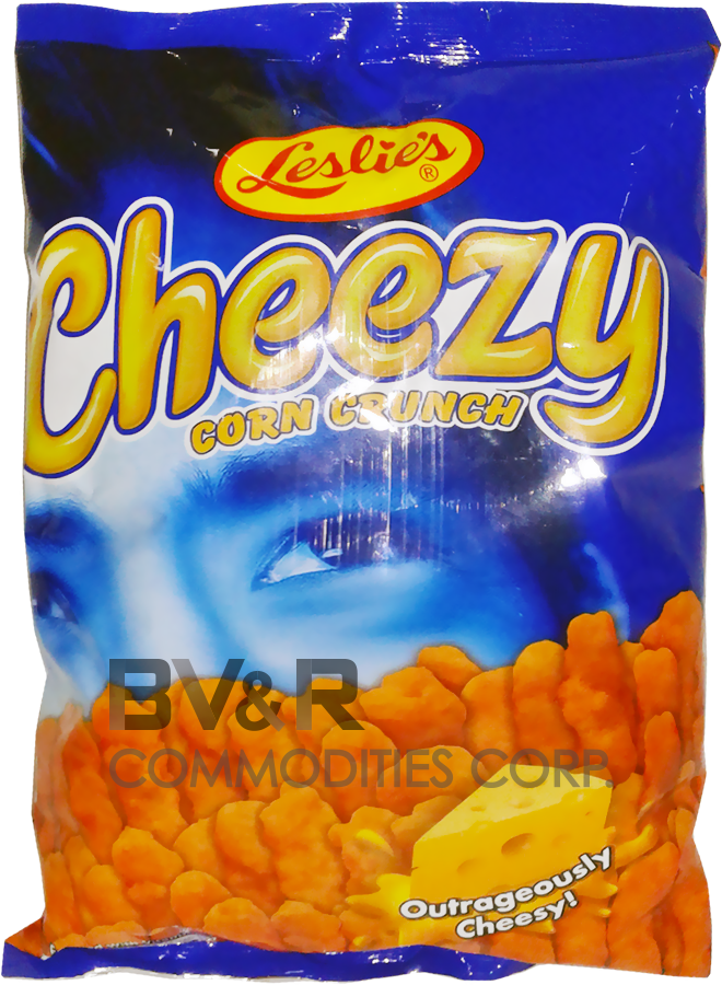 LESLIE'S CHEEZY CORN CRUNCH OUTRAGEOUSLY CHEESY