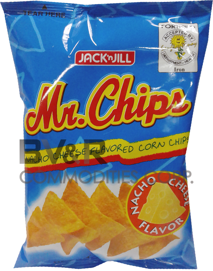 MR. CHIPS NACHO CHEESE FLAVORED CORN CHIPS