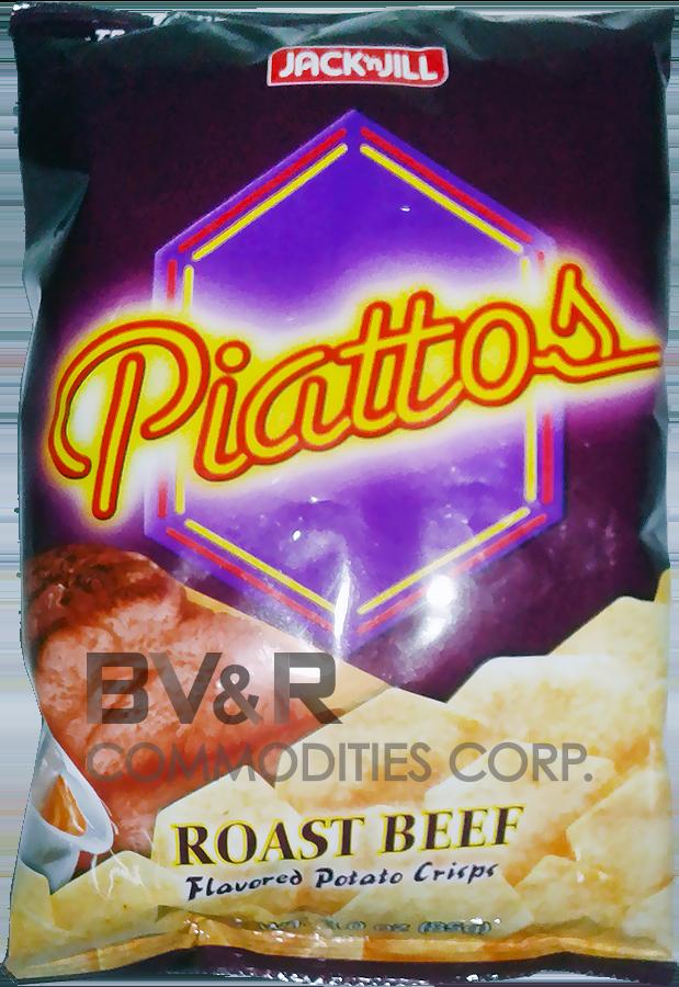 PIATTOS ROAST BEEF FLAVORED POTATO CRISPS