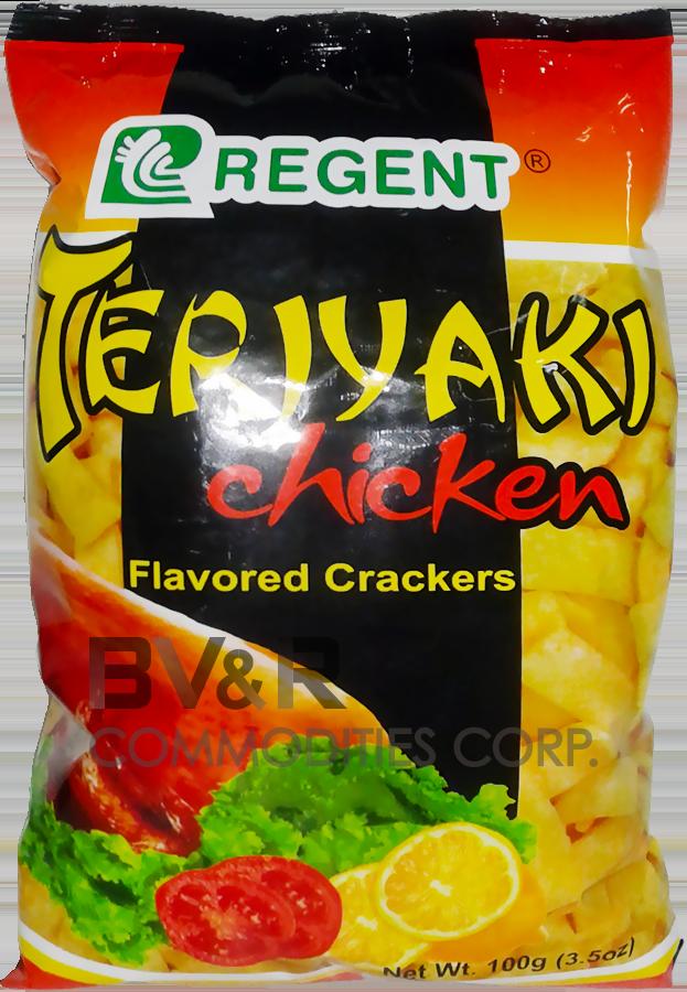 REGENT TERIYAKI CHICKEN FLAVORED CRACKERS