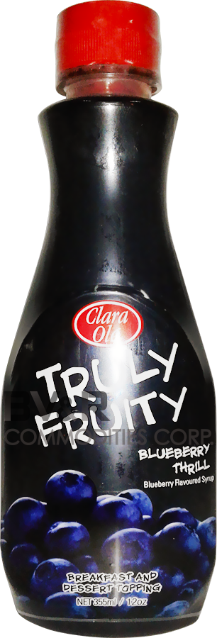 CLARA OLÉ TRULY FRUITY BLUEBERRY THRILL BLUEBERRY FLAVORED SYRUP BREAKFAST AND DESSERT TOPPING