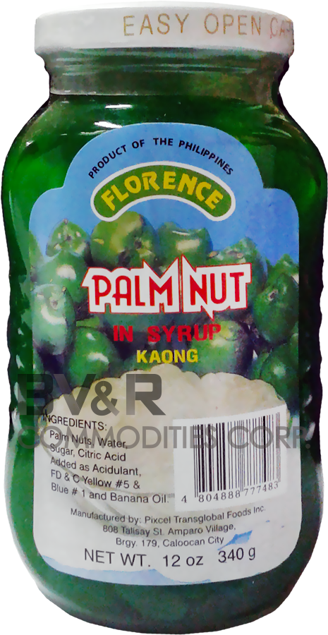 FLORENCE GREEN PALM NUT (KAONG) in SYRUP