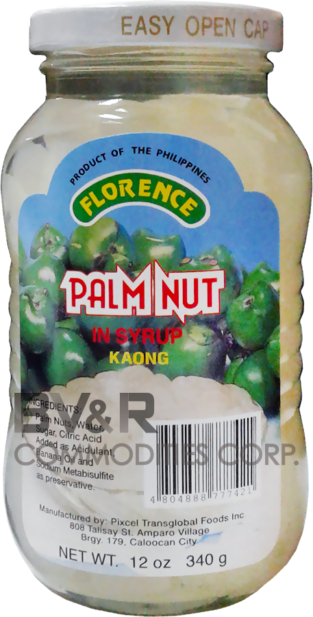 FLORENCE WHITE PALM NUT (KAONG) in SYRUP