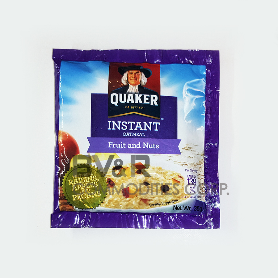 QUAKER INSTANT OATMEAL FRUIT and NUTS