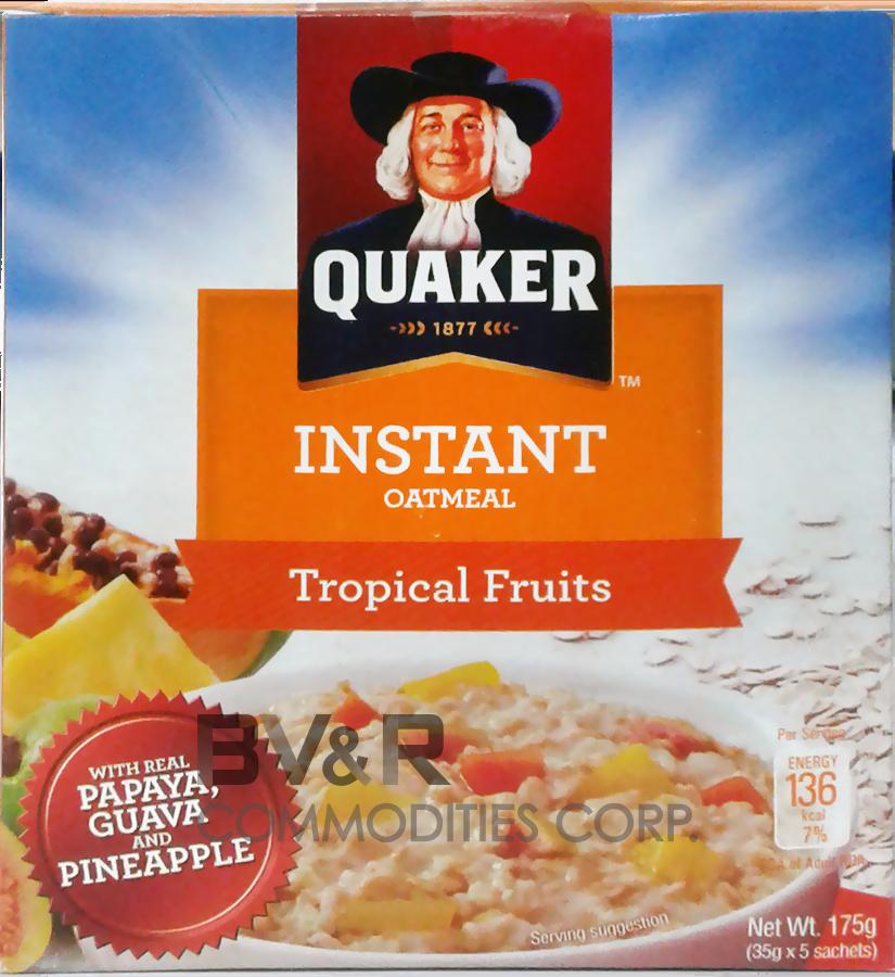 QUAKER INSTANT OATMEAL TROPICAL FRUITS