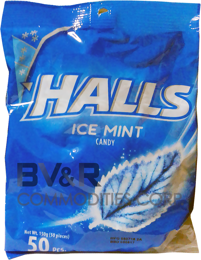 HALLS ICE MINT CANDY