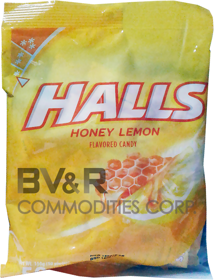 HALLS HONEY LEMON FLAVORED CANDY
