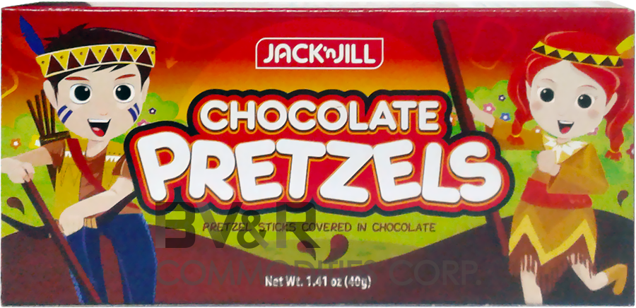 JACK 'n JILL CHOCOLATE PRETZELS PRETZEL STICKS COVERED in CHOCOLATE