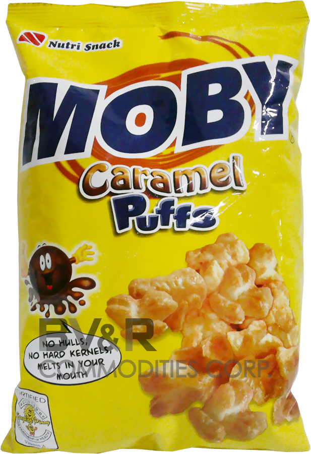 NUTRI SNACK MOBY CARAMEL PUFFS