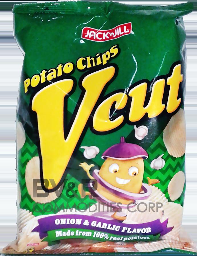 VCUT POTATO CHIPS ONION & GARLIC FLAVOR