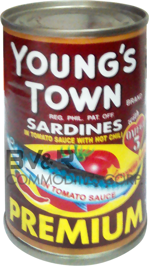YOUNG'S TOWN PREMIUM SARDINES in TOMATO SAUCE with HOT CHILI